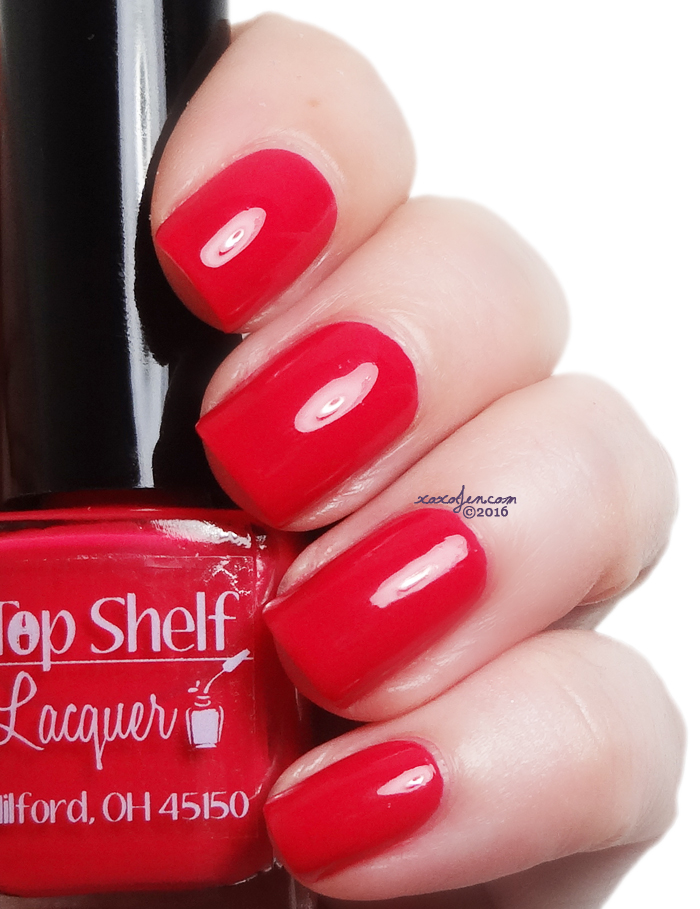 xoxoJen's swatch of Top Shelf Red Hot Valentine