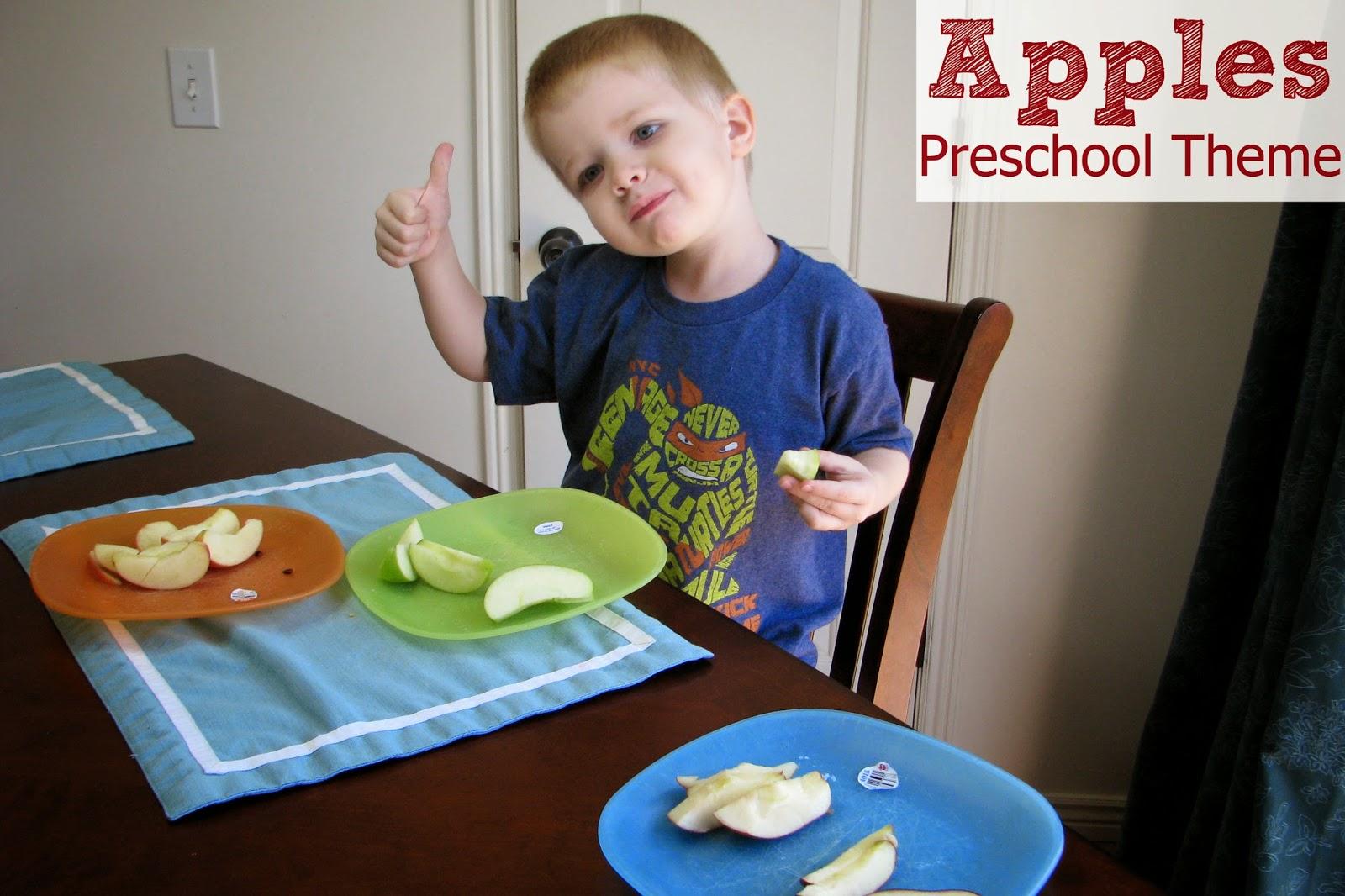 Mommy S Little Helper Apples Preschool Theme