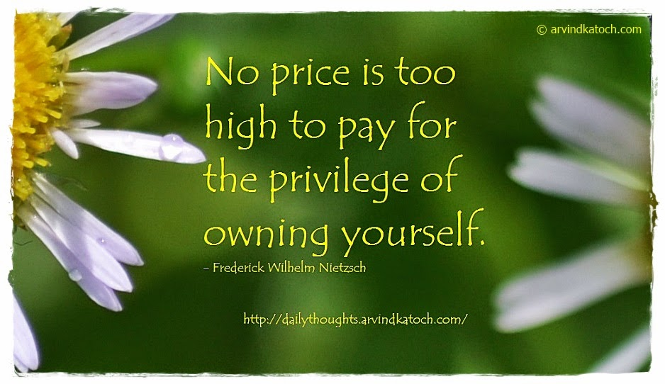 Owning, Yourself, price, Pay, Daily Thought, Quote