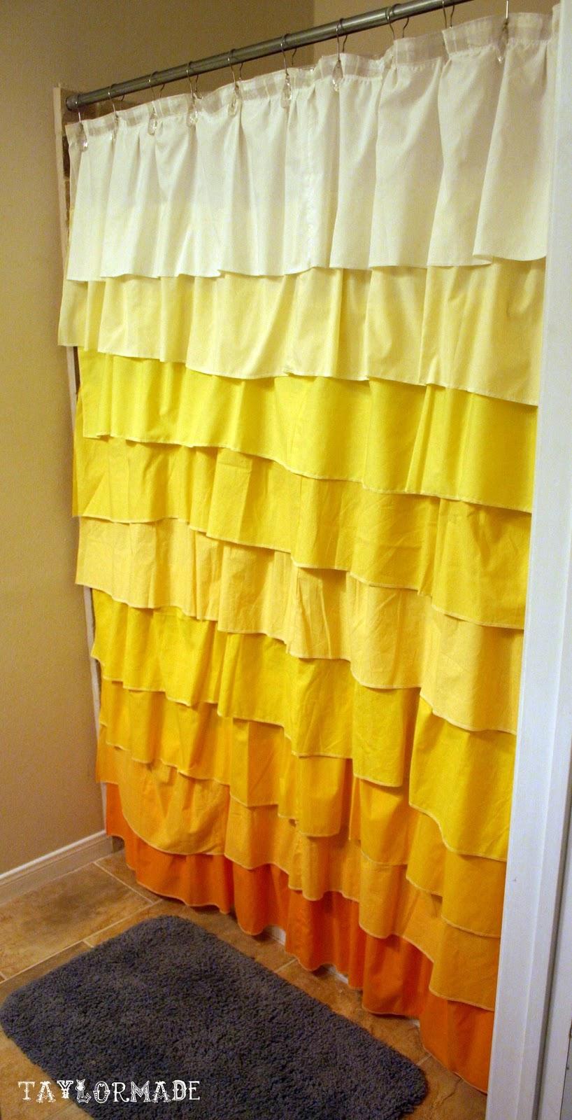 Brand new DIY Anthropologie Flamenco Shower Curtain in Sunshine - TaylorMade LH37