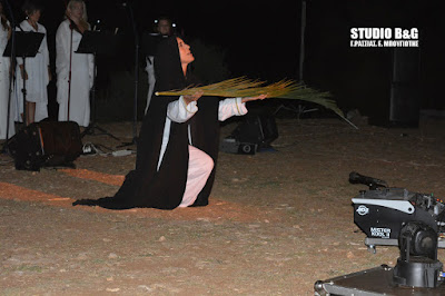 Αργολίδα: Εκπληκτική εκδηλωση αφιέρωμα στις τρεις τελευταίας ημέρες της Παναγίας στην Μονή Ταλαντίου στο Αραχναίο