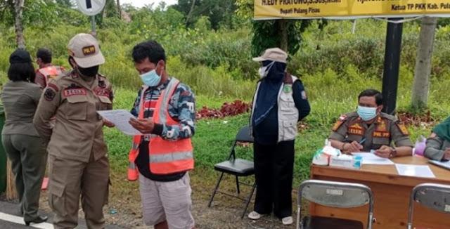 Operasi Yustisi di Pintu Gerbang Komplek Perkantoran Jaring 21 Pelanggar