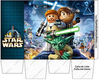 "Caja tipo ""de leche"" de Star Wars Lego."