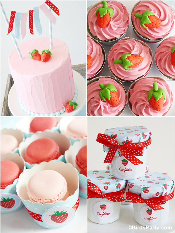 Summer Party Ideas | Strawberry Desserts Table - Party ...