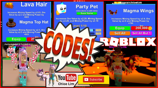 Chloe Tuber Roblox Mining Simulator Gameplay 4 New Codes Lava