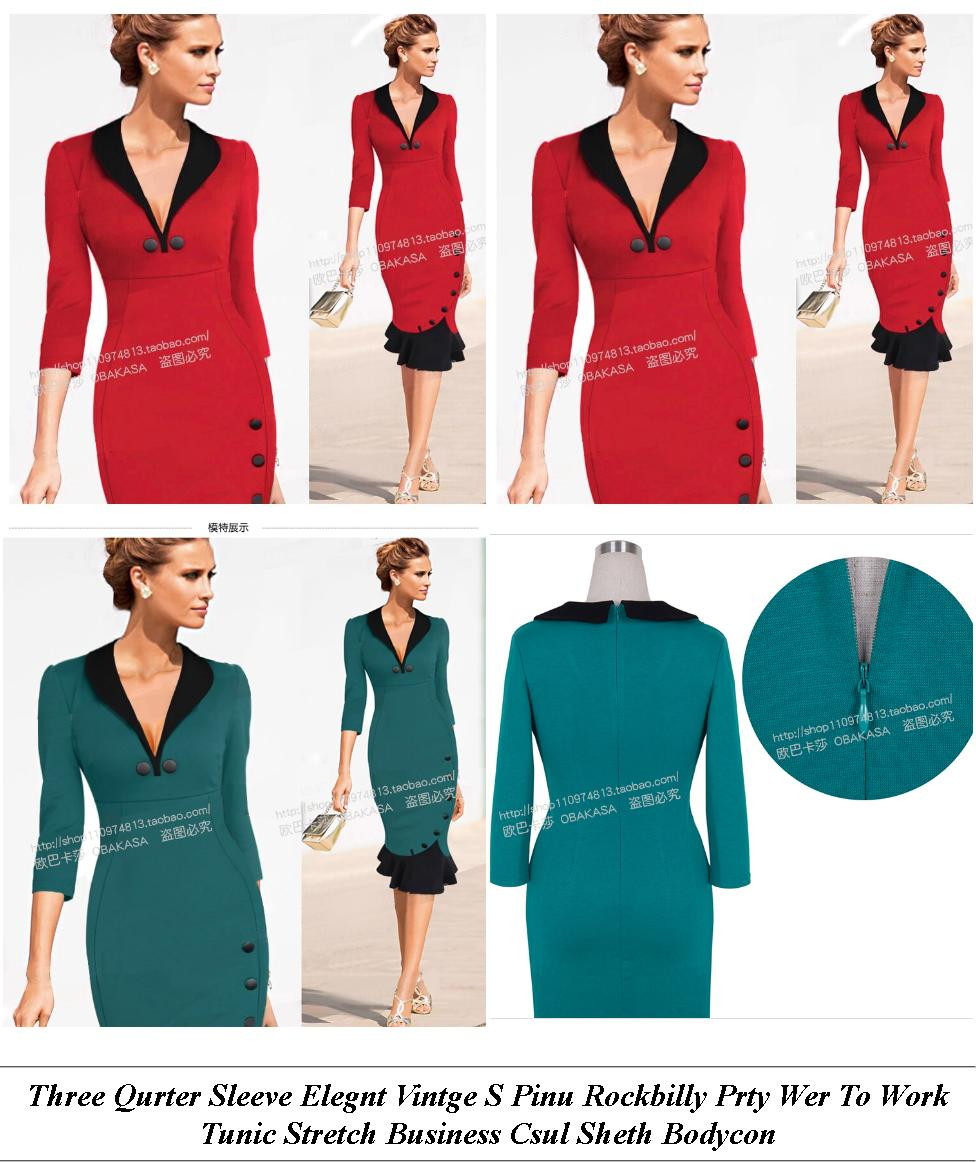 Sale Online - Cheap Womens Plus Size Clothing Online - Pencil Dress Pattern With Sleeves