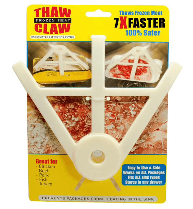 36 Genius Yet Inexpensive Products That Can Save Lives - If You Ever Cook Meet, You're Gonna Need a Thaw Claw