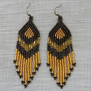 Купить серьги из бисера. Купить длинные серьги в этническом стиле. Интернет-магазин бохо-украшений.