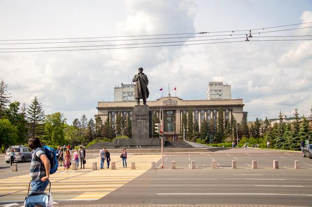 Площаль Ленина Красноярск