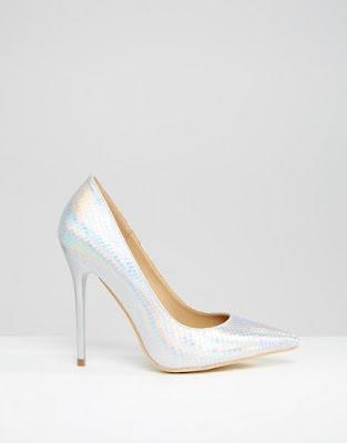 Zapatos de moda de Fiesta Plateados