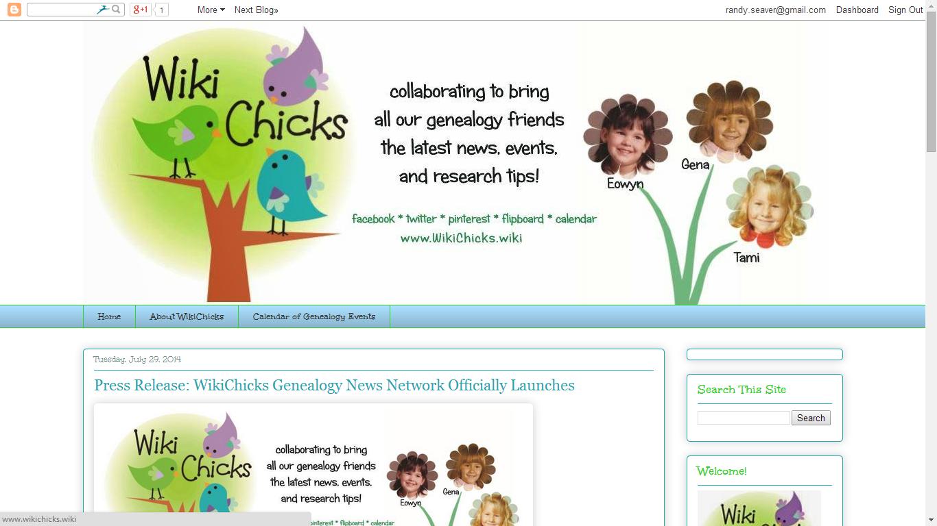 Genea-Musings: WikiChicks Genealogy News Network Launches