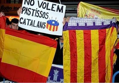 bandera, Mallorca, España, No volem pastissos catalans