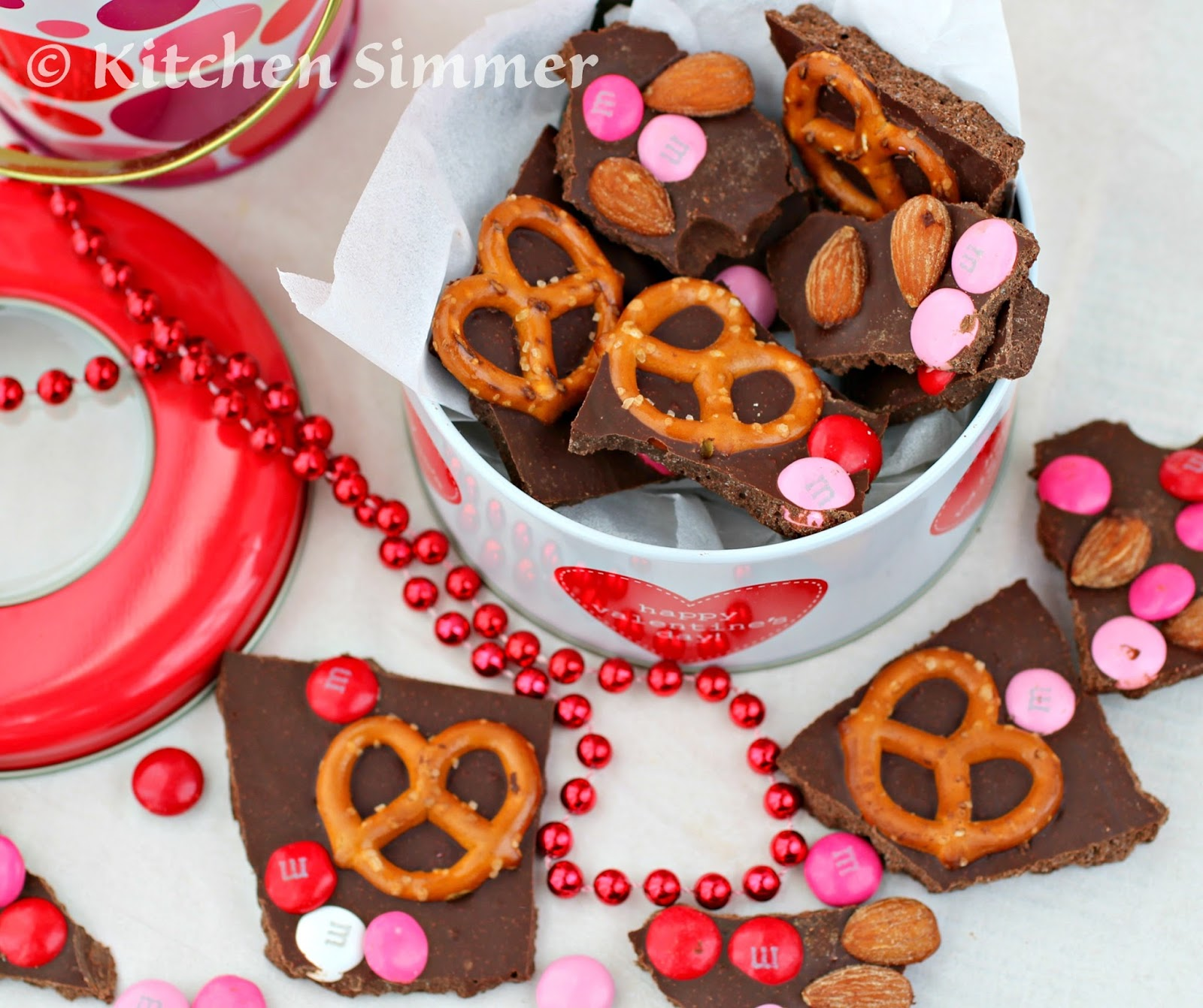 Chocolate Almond Bark Dunmore Candy Kitchen: Kitchen Simmer: Valentine Chocolate Bark