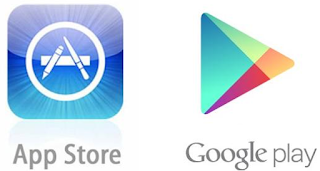 App store e Google Play download Instagram