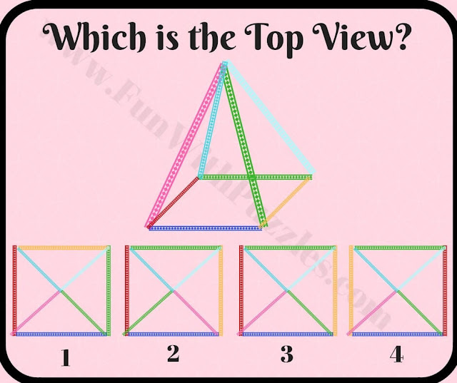 Which is top view of pyramid picture puzzle
