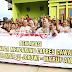 Dukung Jokowi, Emak-emak di Cirebon Deklarasikan dengan Senam dan Tangkap Ikan