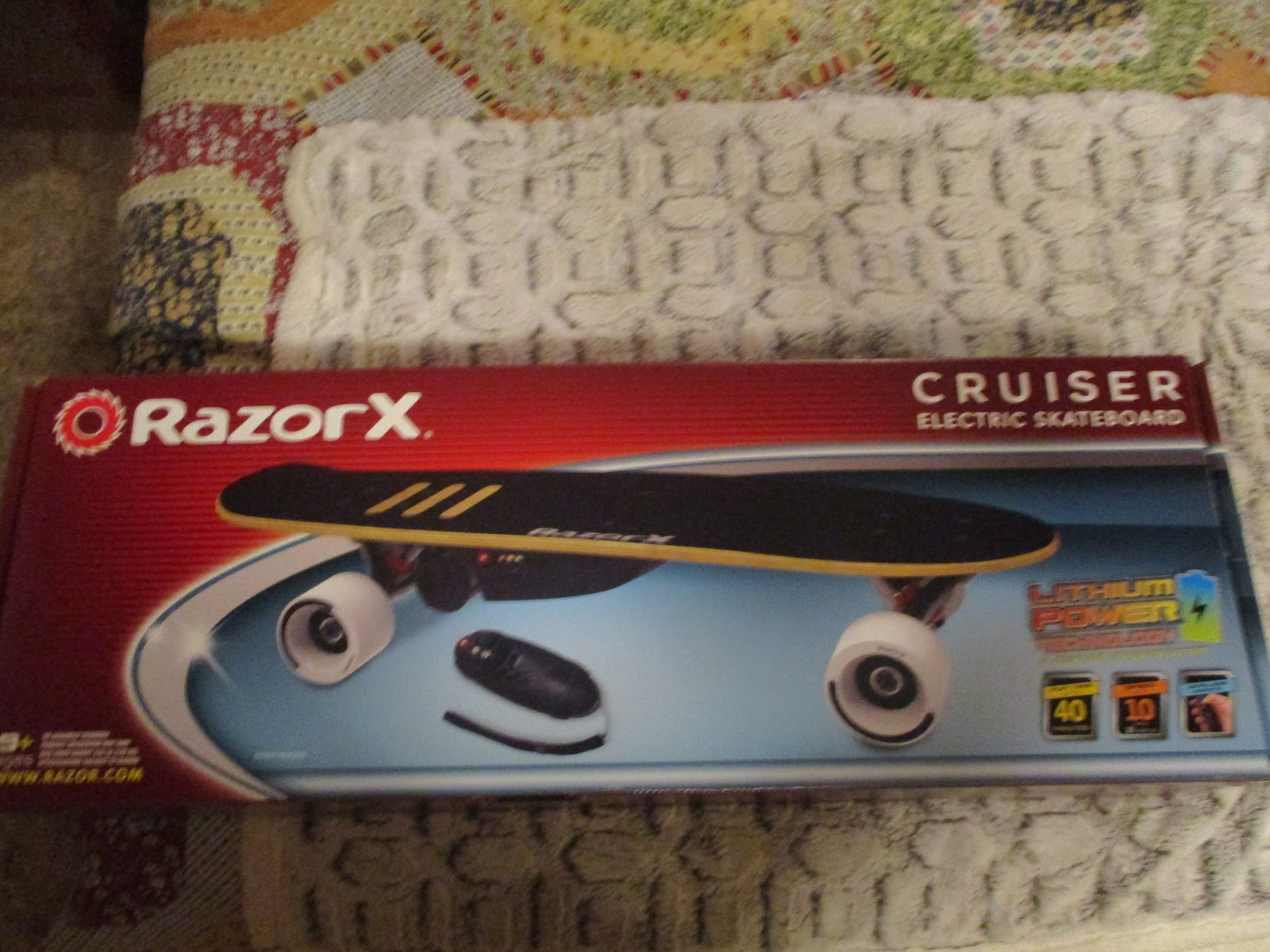 bebc20a8d5a Missys Product Reviews : RazorX Cruiser Electric Skateboard Holiday ...