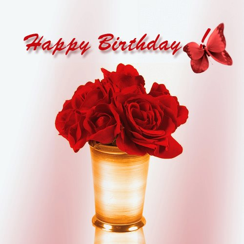 Red Roses Happy Birthday