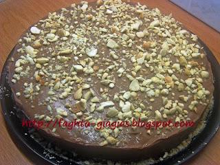 Δίχρωμη τούρτα με σαβαγιάρ