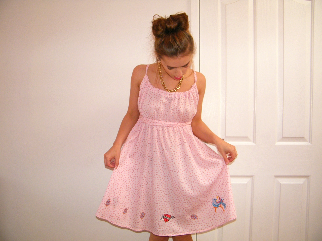 Topshop Pink Nautical Dress