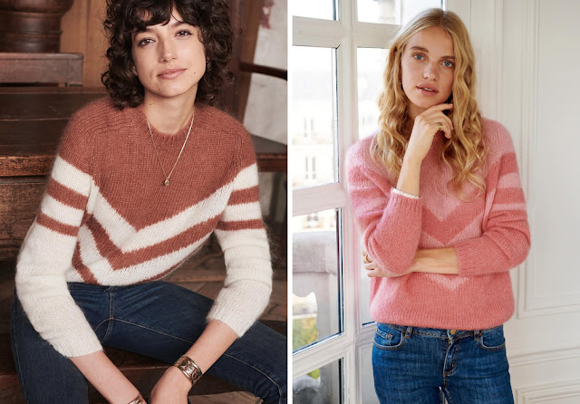 Розовый свитер колор блок
