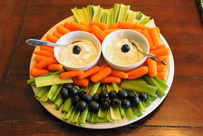Ninja Turtle Birthday Party Food - Veggie Tray