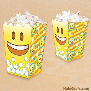 emoji popcorn boxes