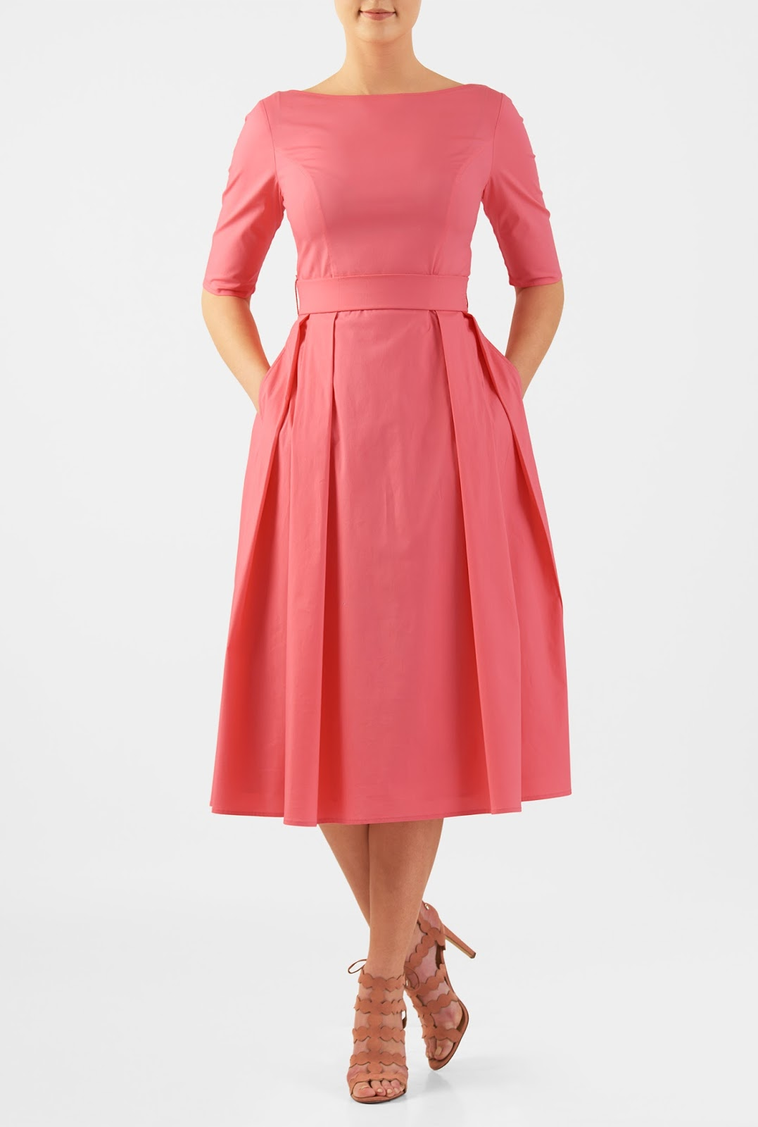 Say yes to the guest dress eshakti quincy dress in sunkist coral ombrellifo Images