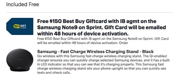 get a $150 Best Buy gift card and wireless charger free