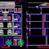 مخطط مشروع فيلا 4 طوابق اوتوكاد dwg