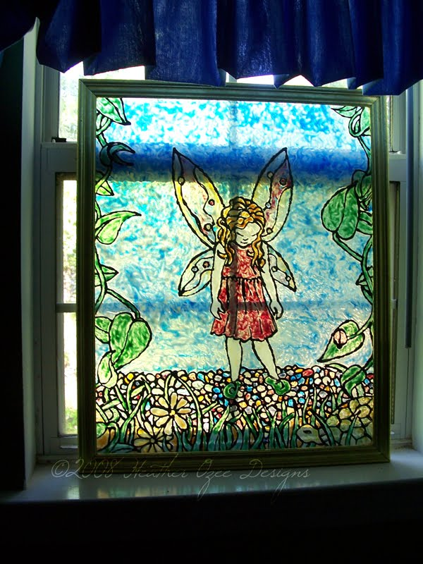 Heather Ozee: {DIY CRAFT} Stained Glass