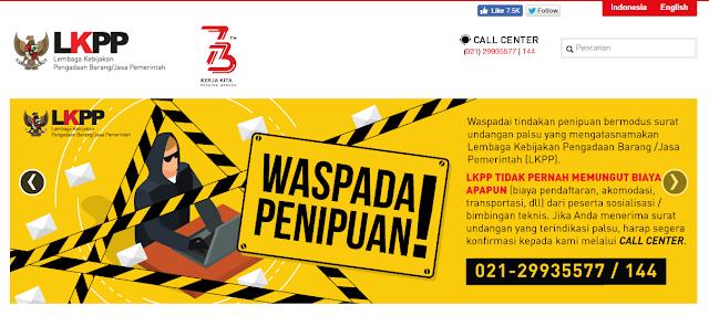 Informasi Terbaru! Lowongan Kerja Staf Pendukung  LKPP Dibuka Sampai 28 April 2019