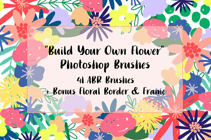 Click the image to purchase the Digital Floral Photoshop Brushes from Creative Market.