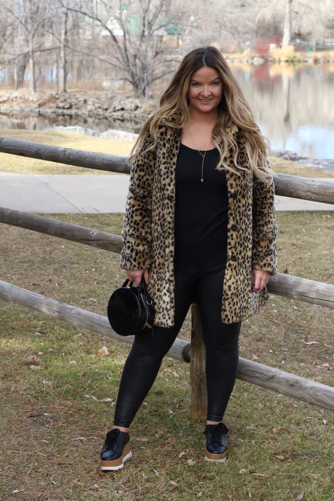 Walking into the New Year with my leopard jacket by popular Denver fashion blogger Delayna Denaye