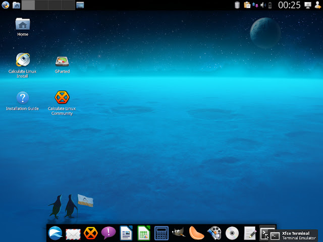 Calculate Linux Xfce Desktop