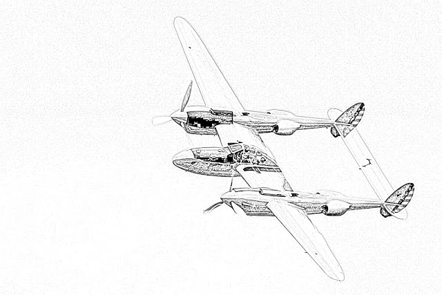 coloring page World War II fighter worldwartwo.filminspector.com