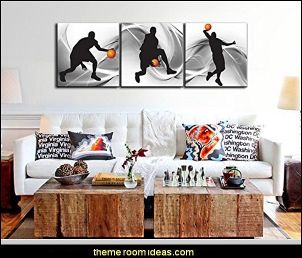 Basketball Sports Themed Canvas Wall Art