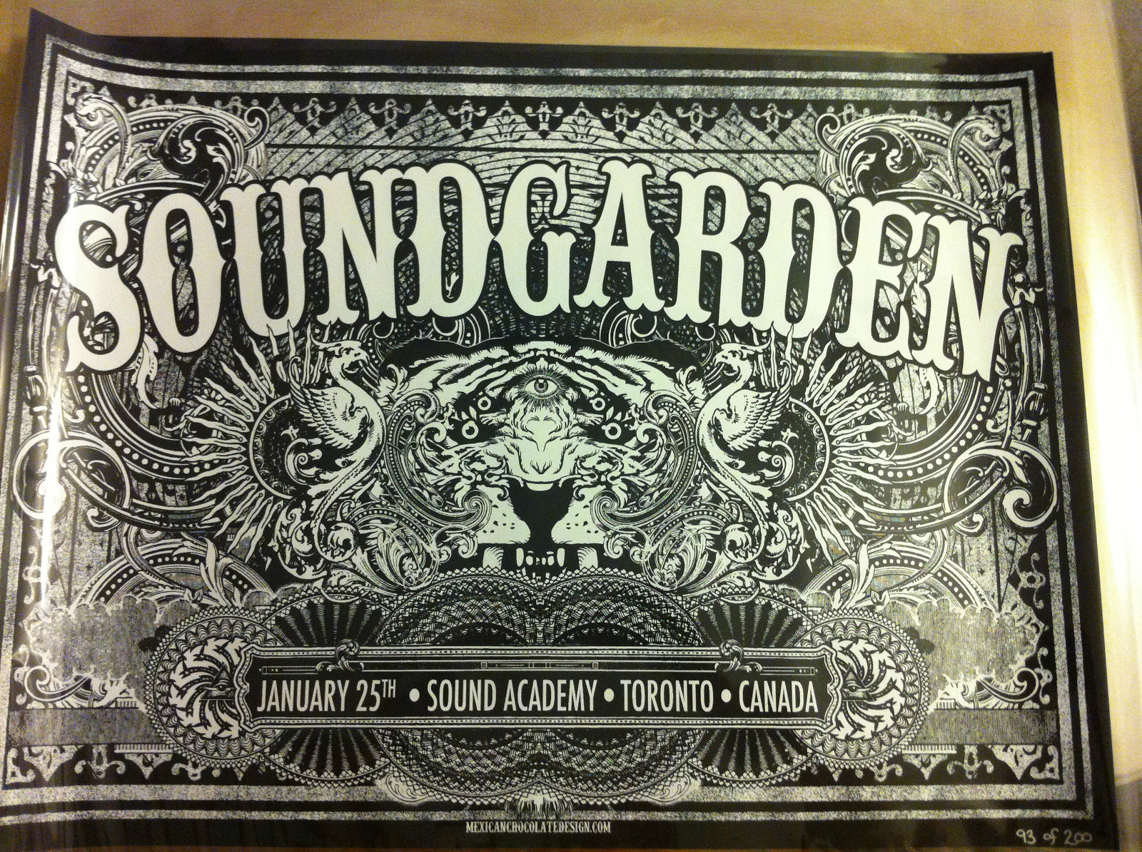 inside the rock poster frame blog soundgarden new york
