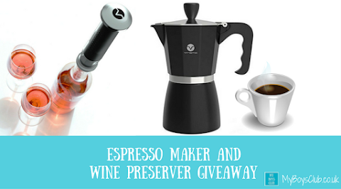 Espresso Maker and Wine Preserver Giveaway (REVIEW)
