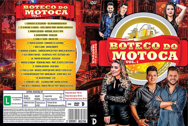 Capa DVD Boteco Do Motoca Vol 1