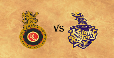 RCB vs KKR Head to Head IPL 2017 Match 46