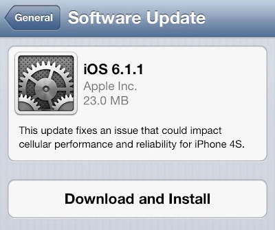 Download iOS 6.1.1 Final IPSW for iPhone, iPad, iPod