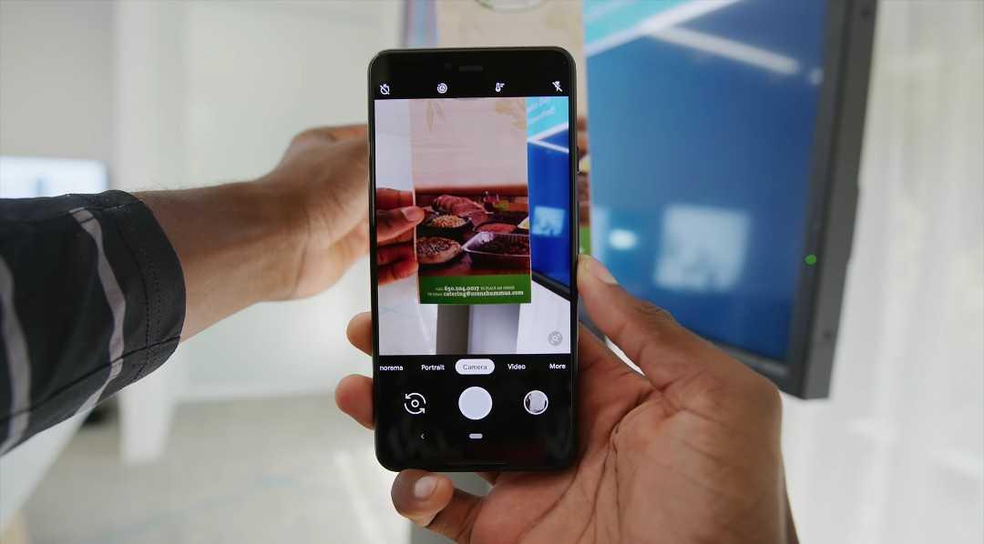 Google Pixel 3 camera.