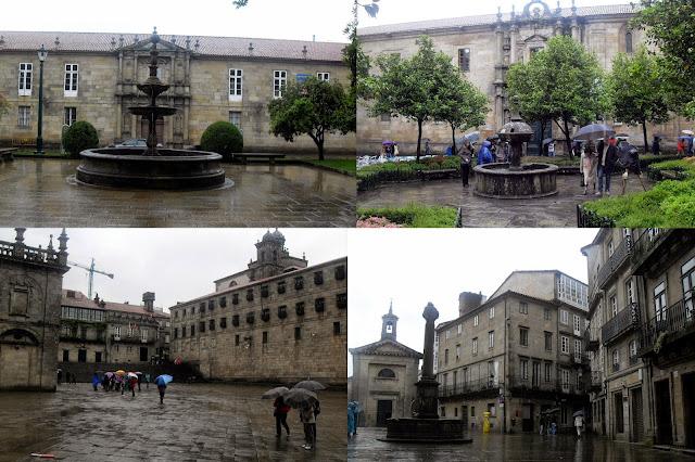 plazas del centro de santiago de compostela