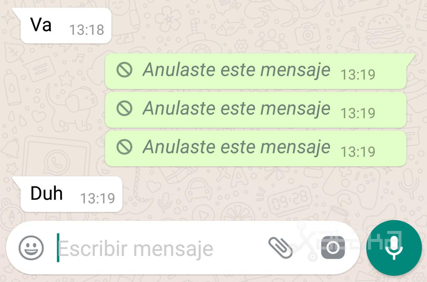 Ya puedes probar en whatsapp la opci n de anular mensajes enviados techinomys - Recuperar whatsapp borrados hace meses ...