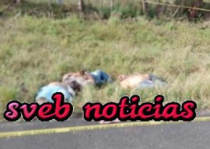 Arrojan 5 cuerpos ejecutados en carretera de Cosamaloapan Veracruz