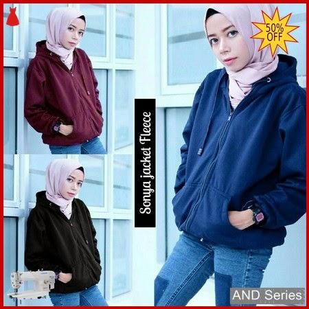 AND088 Sweater Wanita Sonya Jacket Fleece BMGShop