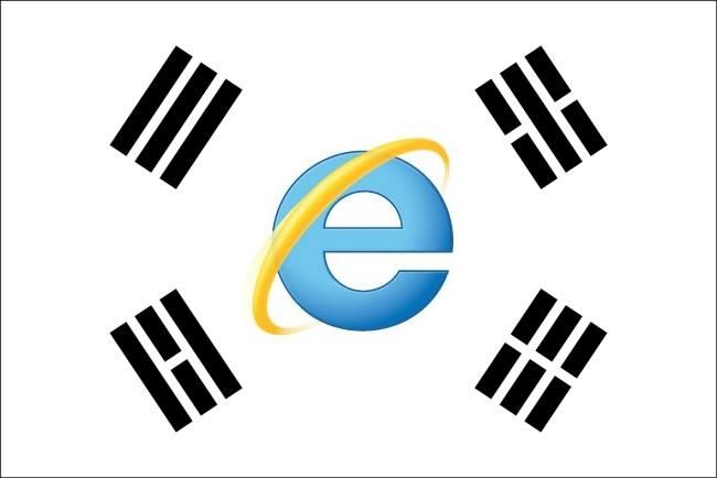 Bandera de la República Coreana del Internet Explorer