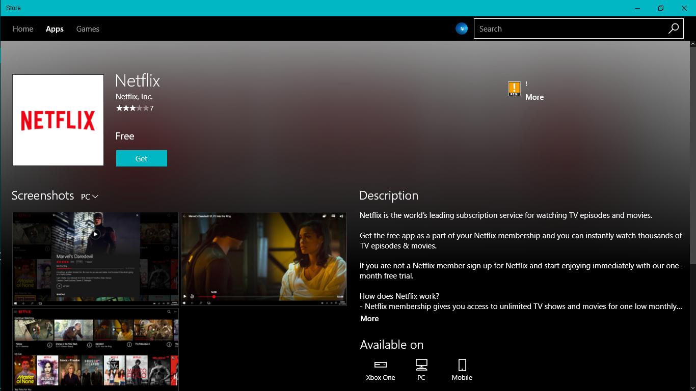 Netflix App - Ứng dụng Xem và Download Phim HD Netflix trên Windows