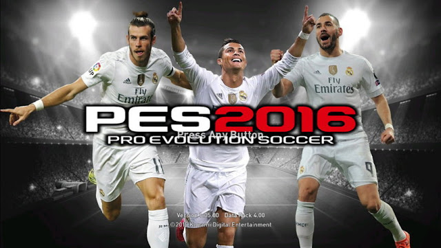 PES 2016 BBC Start Screen